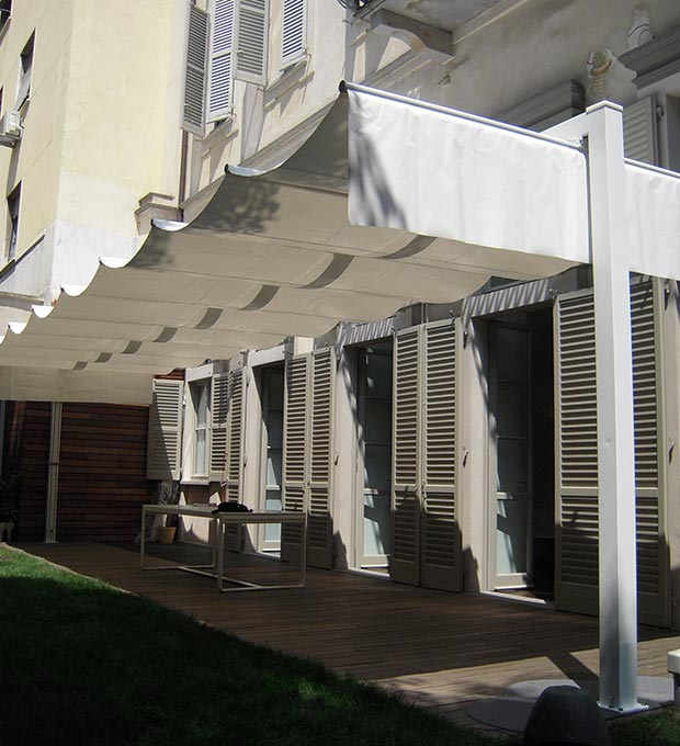 Esempio di installazione tende da sole per terrazze
