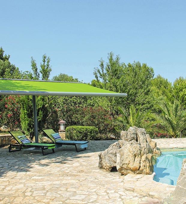 Tenda da sole verde installata Tenda-motorizzata-markilux
